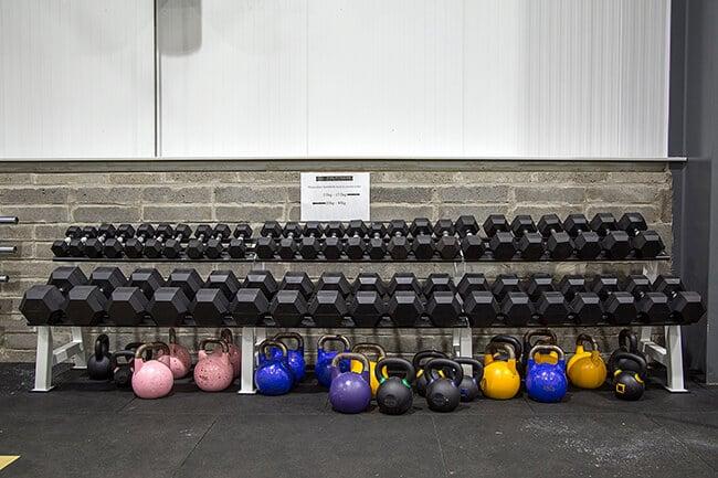 TFA Gym weights rack